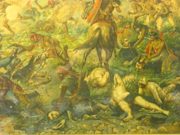 755: 1896 CUSTER'S LAST FIGHT ANHEUSER BUSCH LITHO - 10
