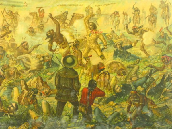 755: 1896 CUSTER'S LAST FIGHT ANHEUSER BUSCH LITHO