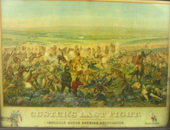 755: 1896 CUSTER'S LAST FIGHT ANHEUSER BUSCH LITHO - 2