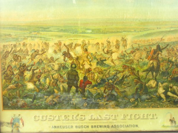 755: 1896 CUSTER'S LAST FIGHT ANHEUSER BUSCH LITHO - 3