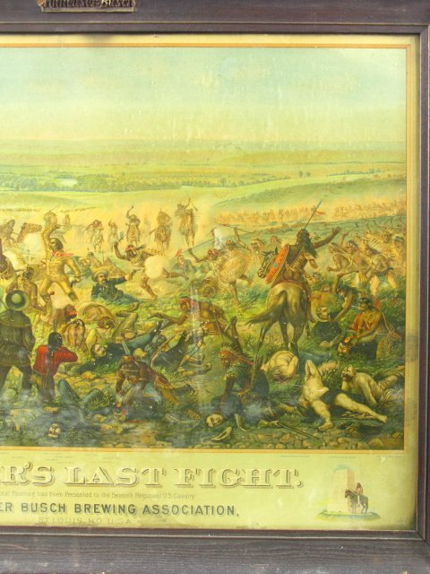 755: 1896 CUSTER'S LAST FIGHT ANHEUSER BUSCH LITHO - 4