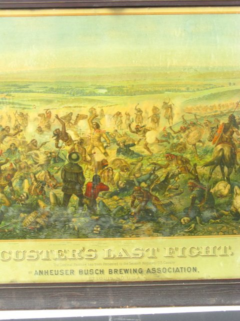 755: 1896 CUSTER'S LAST FIGHT ANHEUSER BUSCH LITHO - 5