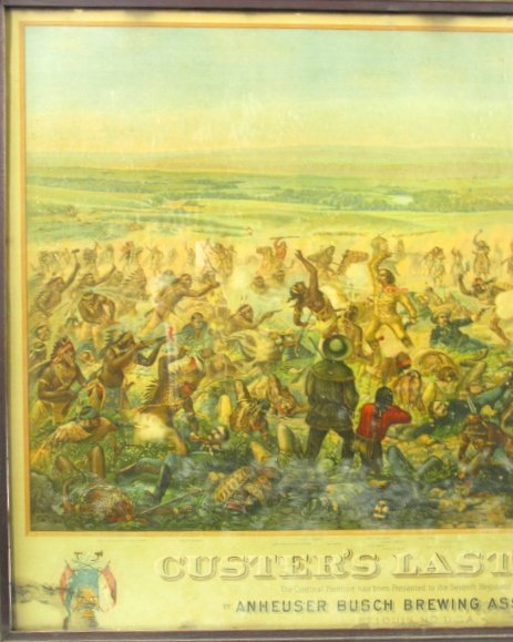 755: 1896 CUSTER'S LAST FIGHT ANHEUSER BUSCH LITHO - 6