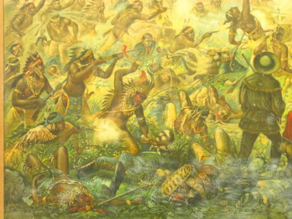 755: 1896 CUSTER'S LAST FIGHT ANHEUSER BUSCH LITHO - 8