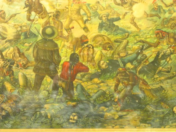 755: 1896 CUSTER'S LAST FIGHT ANHEUSER BUSCH LITHO - 9