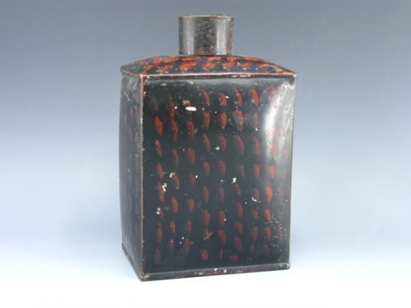 1009: ANTIQUE TOLE PAINTED TIN CONTAINER