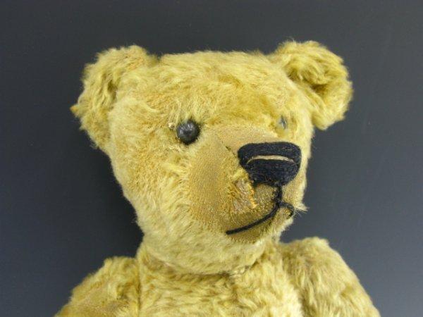 """1409: EARLY 16"""" GERMAN MOHAIR TEDDYBEAR"""
