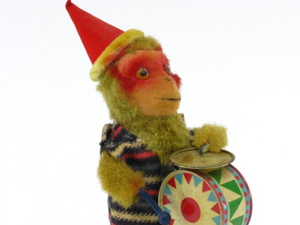 1747: MONKEY DRUMMER WIND-UP TOY, JAPAN