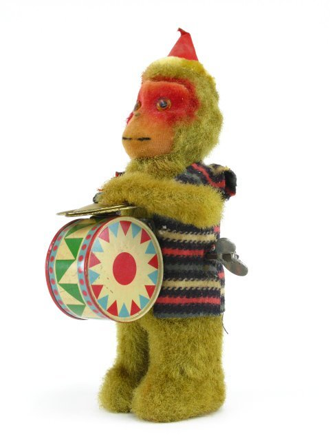 1747: MONKEY DRUMMER WIND-UP TOY, JAPAN - 3