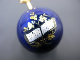 FINE ENAMEL & GOLD MUSIC THEME VINAIGRETTE