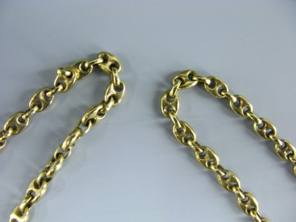 512: 14K YELLOW GOLD PUFFED ANCHOR CHAIN