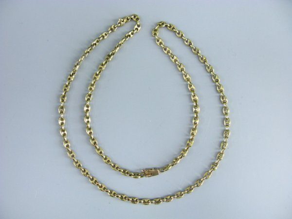 512: 14K YELLOW GOLD PUFFED ANCHOR CHAIN - 2