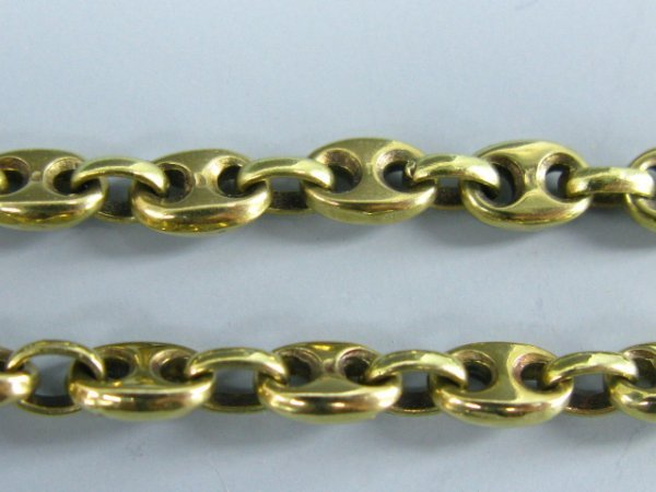 512: 14K YELLOW GOLD PUFFED ANCHOR CHAIN - 4