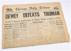 'DEWEY DEFEATS TRUMAN' CHICAGO DAILY TRIBUNE NOV 3 1948