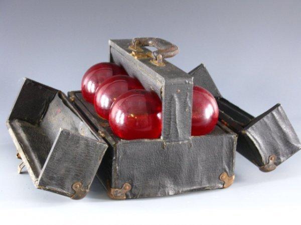 3: RED COMET FIRE EXTINGUISHER GRENADE SET + CASE - 3