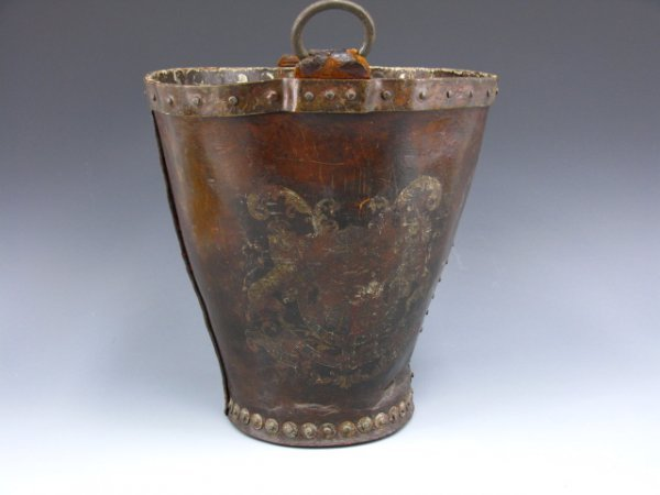 5: BRITISH LEATHER FIRE BUCKET CIRCA 1800