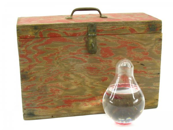7: PAIR OF VINTAGE FIRE EXTINGUISHER GRENADES & CASE