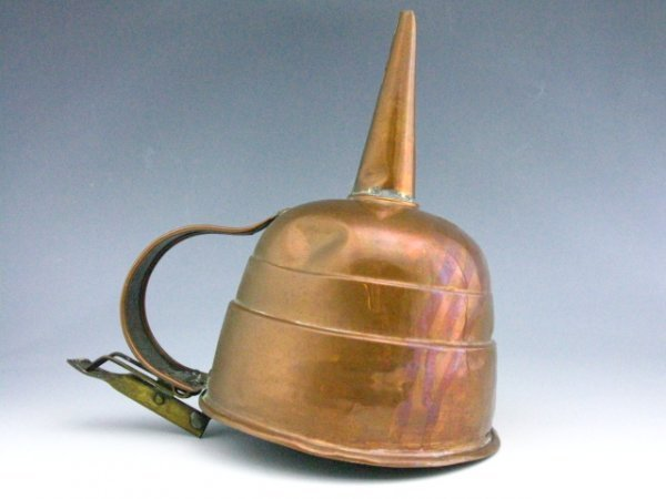 10: AN EARLY COPPER & BRASS FUNNEL WITH TRIGGER