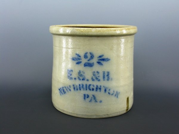 15: A E.S. & R.BLUE STENCILIZED SALT GLAZED STONEWARE C