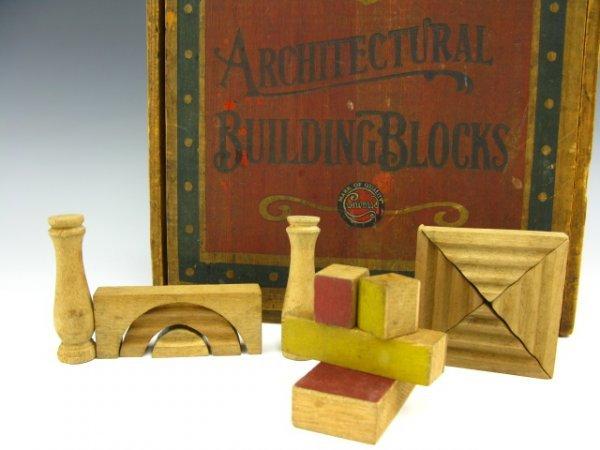 ANTIQUE COLUMBIA ARCHITECTURAL BUILDING BLOCKS SET