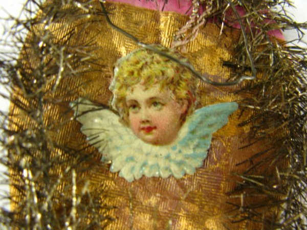 VICTORIAN SCRAP & TINSEL COTTON CHRISTMAS ORNAMENTS