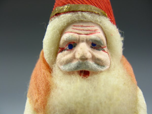 WHITE COTTON FATHER CHRISTMAS BISQUE ORNAMENT
