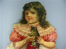 VICTORIAN DIE CUT GIRL WITH COTTON DRESS