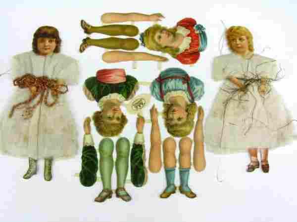 2 COTTON & SCRAP, BRITISH DIE CUT CHRISTMAS ORNAMENT