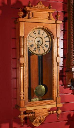 AN ANSONIA QUEEN ELIZABETH WALL CLOCK