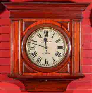 A HANDSOME HIGH QUALITY MAHOGANY SCOTTISH GALLERY CLOCK