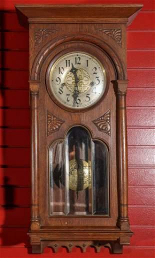 A LORENZ FURTWANGLER CLOCK WITH WESTMINSHER CHIME