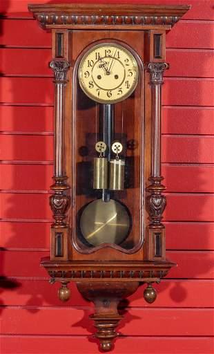 A LATE 19TH CENTURY TWO WEIGHT VIENNA REGULATOR