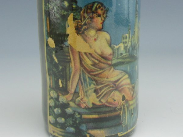FLORIDA WATER BARBER BOTTLE WITH NUDE