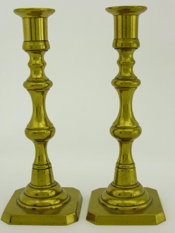 TWO BRASS CANDLESTICKS SIGNED ROSTAND - 2