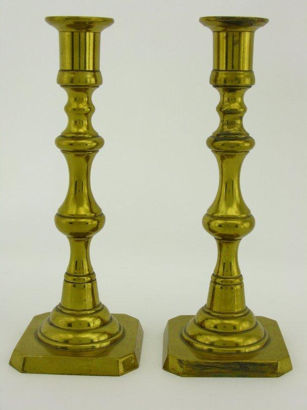 TWO BRASS CANDLESTICKS SIGNED ROSTAND - 3