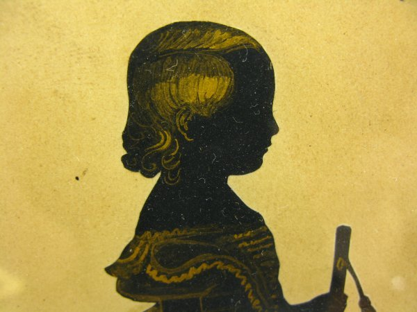 CIRCA 1800 PAINTED SILHOUETTE OF A CHILD