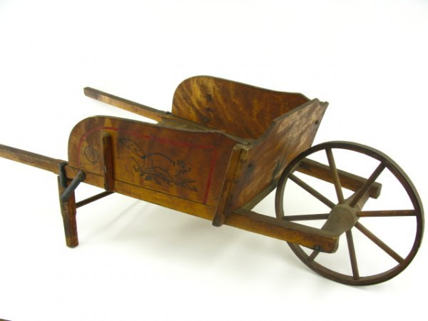 CHILD'S WOOD WHEELBARROW BY PARIS MFG CO