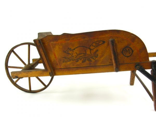 CHILD'S WOOD WHEELBARROW BY PARIS MFG CO - 5
