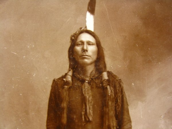 505: PONCA INDIAN ALBUMEN CABINET PHOTO C. 1890