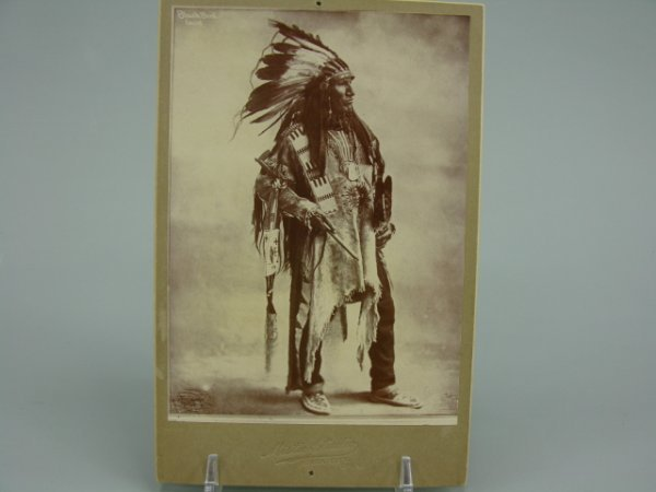 506: SIOUX CHIEF BLACK BIRD CABINET PHOTO 1890'S
