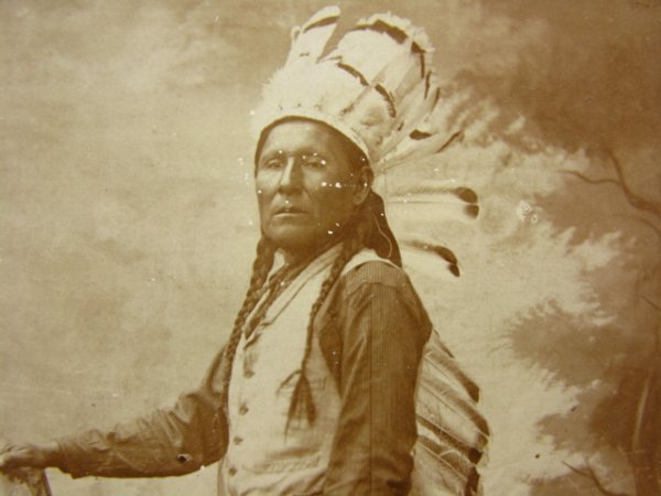 513: OSAGE CHIEF CABINET PHOTO CIRCA 1900