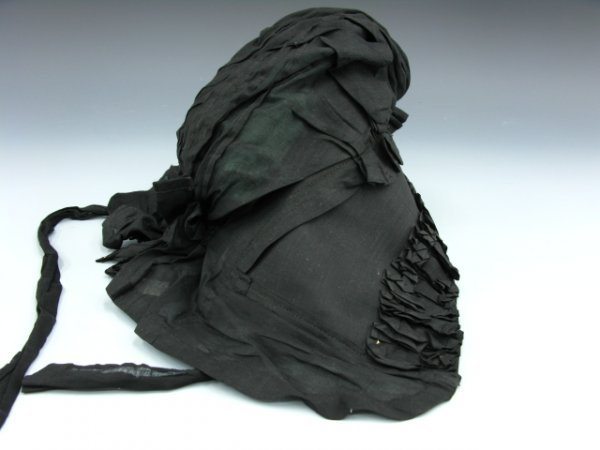 520: QUAKER LADY'S BLACK BONNET