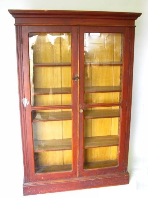 522: TWO DOOR VICTORIAN BOOK CASE