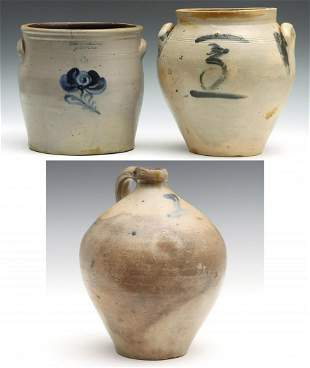 NEW YORK STONEWARE STAMPED N. WHITE AND A.O WHITTEMORE