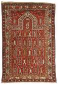A KUBA CAUCASIAN MARASALI PRAYER RUG DATED 1894