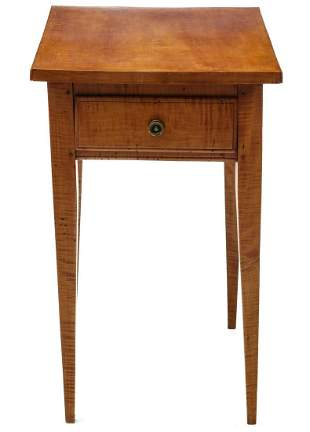 A 19TH CENTURY COUNTRY HEPPLEWHITE ONE DRAWER STAND