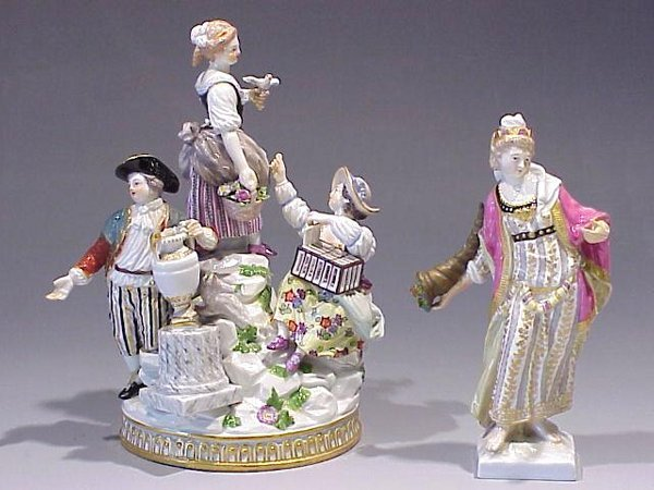 3: Meissen and KPM Figures with Damage
