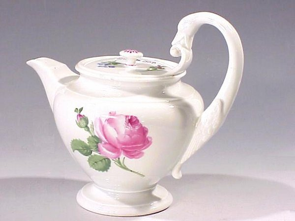 8: Blue Swords Marked Porcelain Teapot