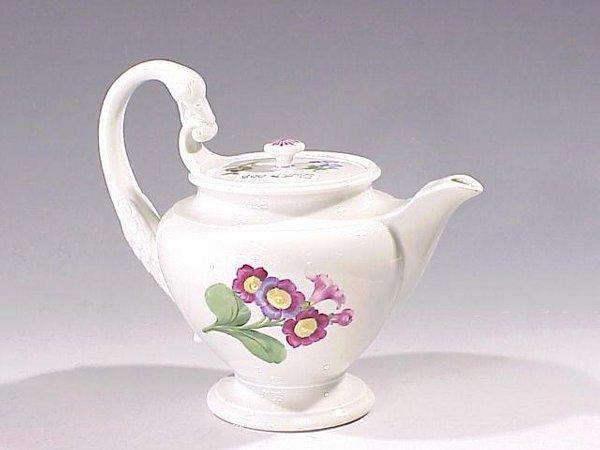 8: Blue Swords Marked Porcelain Teapot - 2