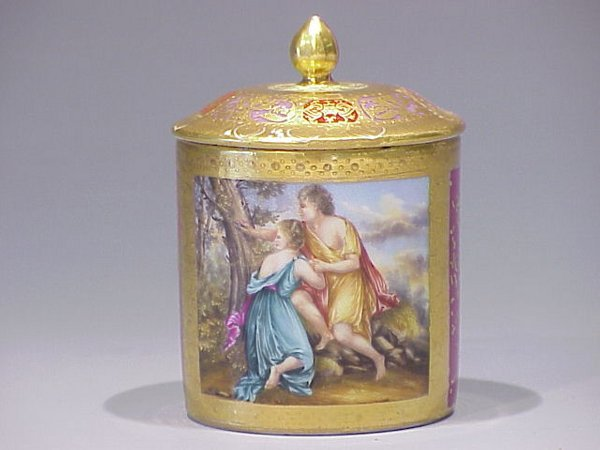 12: Meissen Covered Cup with Classical Scene